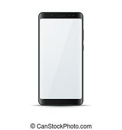 aggeggio, realistico, digitale, icon., smartphone, 3d