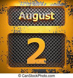 agosto, 2, acciaio, dipinto