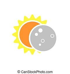 agosto, 8, eclissi, solare, 2017, totale, icona