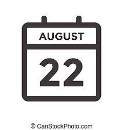 agosto, calandrare, 22, giorno, data calendario, scadenze, appuntamento, o