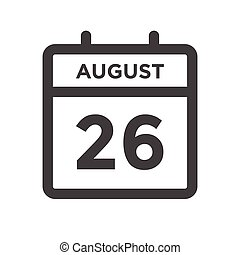 agosto, calandrare, scadenza, giorno, 26, data calendario, appuntamento, o