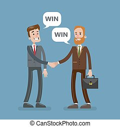 agreement., businesspeople, affare