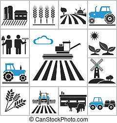 agricoltura, icone