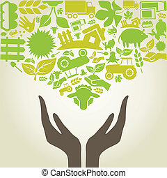 agricoltura, mano