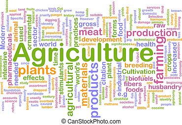 agricoltura, parola, nuvola