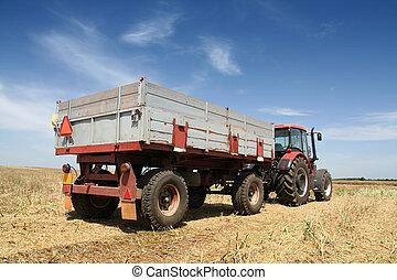 agricoltura, -, trattore