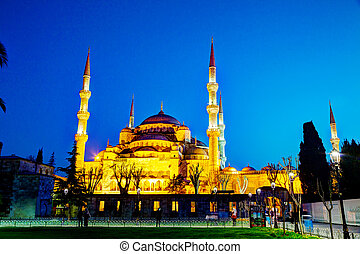 ahmed, istanbul, sultano, moschea, mosque), (blue