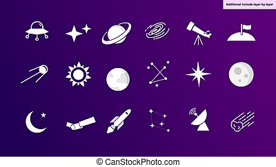 aiduldesign184, set, icona, vettore, -, astronomia