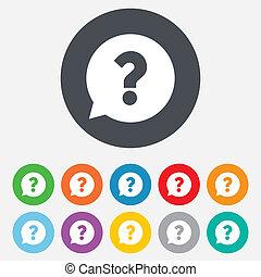 aiuto, domanda, simbolo., marchio, icon., segno
