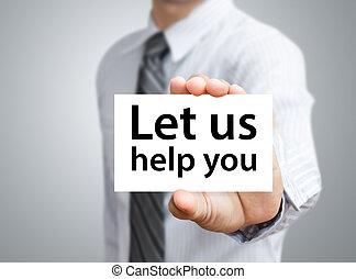 aiuto, esposizione, ci, permettere, lei, scheda