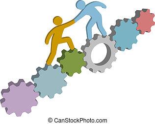 aiuto, persone, soluzione, tecnologia, trovare, 3d