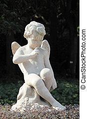 alato, statua, angelo