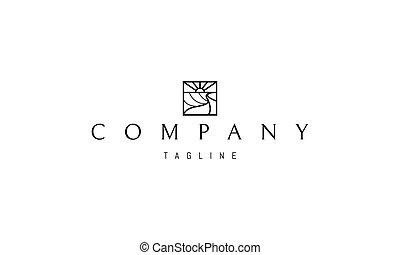 alba, logotipo, immagine, farm., astratto, vettore