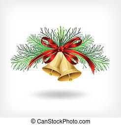 albero, decorazioni natale, fascette