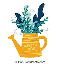 albero, ebreo, tu, -, bishvat, anno, nuovo, vacanza