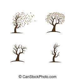 albero, logotipo, sagoma