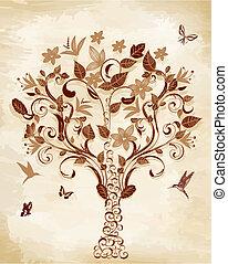 albero, papiro