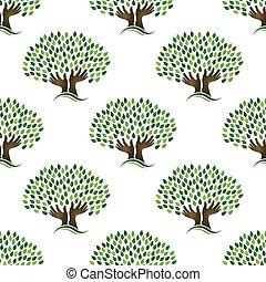 albero, pattern., seamless, speranza
