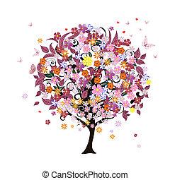 albero, romantico, festivo