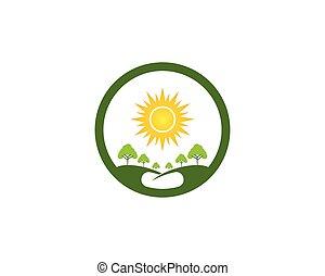 albero, sagoma, natura, vettore, logotipo