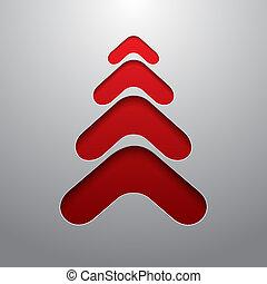 albero techno, natale, rosso, 3d