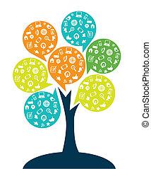 albero, tecnologia, intrattenimento