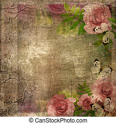 album, (, coperchio, spazio, rose, set), 1, testo, vendemmia