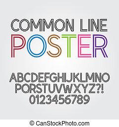alfabeto, astratto, linea, parallelo
