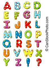 alfabeto, biscotto