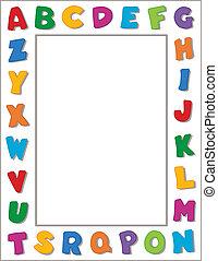 alfabeto, cornice