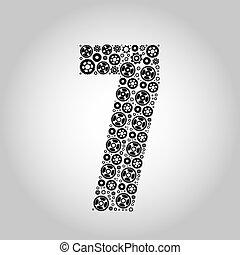 alfabeto, -, gear-number, 7