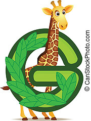 alfabeto, giraffa, g