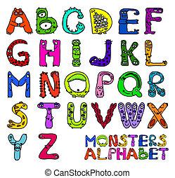 alfabeto, mostri