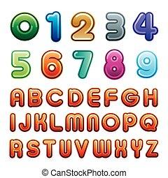 alfabeto, numero