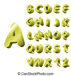 alfabeto, oro