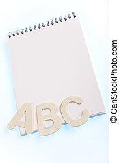 alfabeto, quaderno