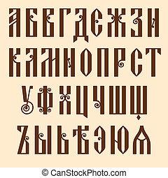 alfabeto, slavjanic
