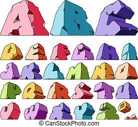 alfabeto, variopinto
