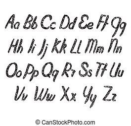 alfabeto, vettore, struttura