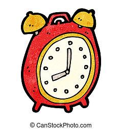 allarme, cartone animato, orologio