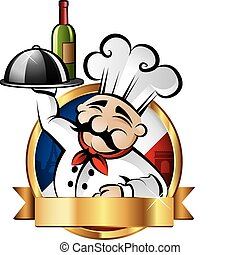 allegro, chef, illustrazione