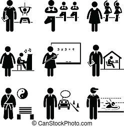allenatore, istruttore, insegnante, allenatore