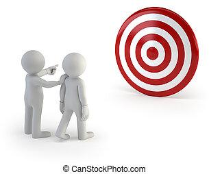 allenatore, persone, esposizione, -, giusto senso, piccolo, seguire, 3d