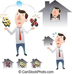 alloggio, concetto, prestiti