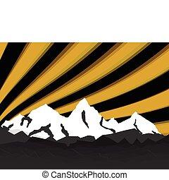 alte montagne, giorno