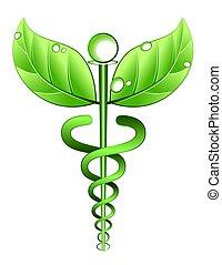 alternativa, simbolo, medicina