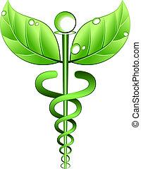 alternativa, vettore, simbolo, medicina