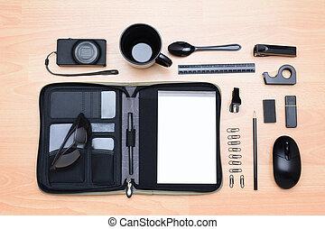 alto, articoli, angolo, affari, scrivania