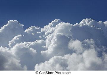 alto, cumulo, altitudine, nubi