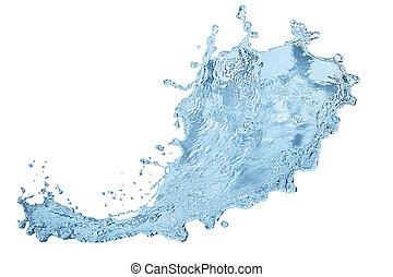 alto, isolato, acqua, fondo, bianco, risoluzione, splashe